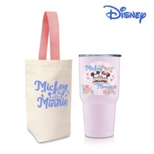 [Disney] 櫻紛米奇 不銹鋼內瓷真空保溫冰霸杯-粉藕紫 (900ml)