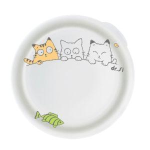 [Dr. Si] 白金級矽膠巧力碗 (貓哈魚花樣/單蓋組)