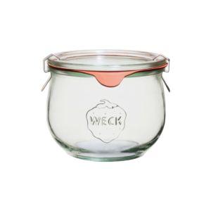 [德國Weck]744流線圓玻璃罐 580ml (附玻璃蓋與密封配件)