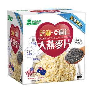 [義美生機] 芝麻亞麻仁大燕麥片(300g/盒)