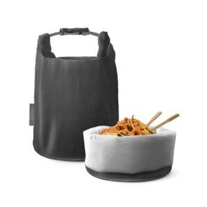 [Roll'eat] 西班牙桶裝食物袋-可裝湯水 (細方格灰)