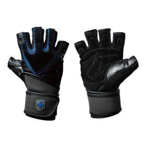 [美國 HARBINGER] 1250 TRAINING 重訓/健身男用護腕手套-黑藍色