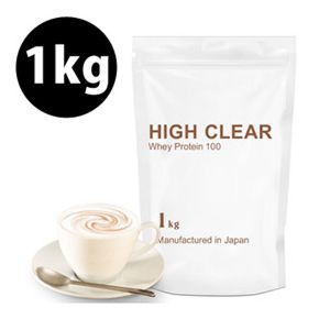 [日本 High Clear] 濃縮乳清蛋白-濃郁咖啡歐蕾口味(1kg/袋)