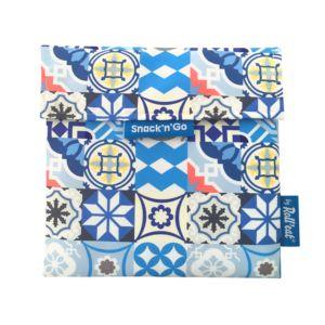 Roll'eat西班牙吃貨零食袋-尺寸M-拼布藍