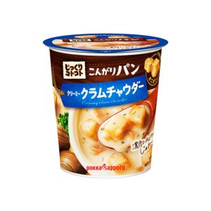 [日本 POKKA] 蛤蠣濃湯杯-超大塊麵包丁 (27.2g/杯)