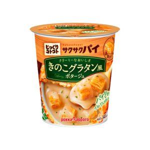[日本 POKKA] 蘑菇濃湯杯-香脆酥皮塊 (30.1g/杯)