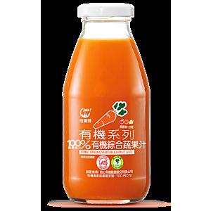 [可美特] 有機綜合蔬果汁24入組(295ml/瓶)