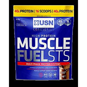 [南非 USN] Muscle Fuel高熱量乳清蛋白粉-巧克力口味(454g/袋)