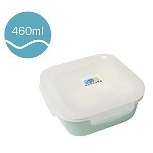[Neoflam] 正方型陶瓷保鮮盒(460ml/淡綠色)