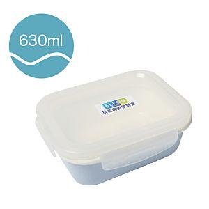 [Neoflam] 長方形陶瓷保鮮盒(630ml/淡藍色)
