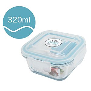 [Neoflam] CLOC系列玻璃保鮮盒 (正方形/320ml)