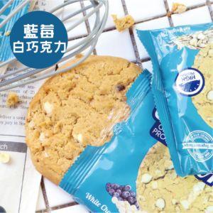 [英國 Oatein] 藍莓白巧克力燕麥蛋白餅乾(75g/片)