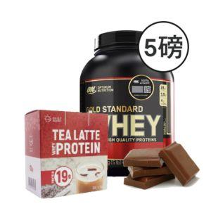 [組合商品] ON雙倍巧克力(5磅/罐)+Daily Boost運動乳清蛋白粉-紅茶拿鐵(7包/盒)