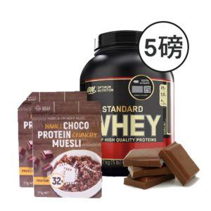 [組合商品] ON雙倍巧克力(5磅/罐)+Daily Boost雙倍可可蛋白酥脆穀物(375g/盒*2) {效期: 2019-06-12}