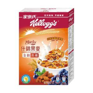 [家樂氏] Mueslix 什錦果麥-葡萄乾、杏仁果口味 (375g/盒)