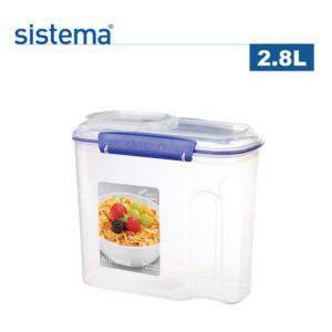 [紐西蘭 Sistema] 早餐麥片輕鬆保存~扣式保鮮盒 (2.8L)