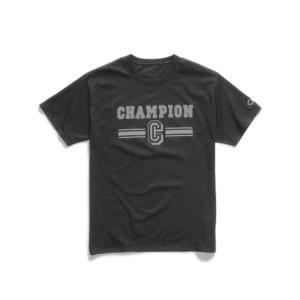 [預購商品]美國Champion男版經典印花短T(黑)