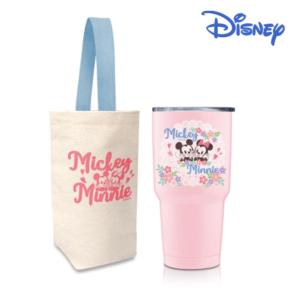 [Disney] 櫻紛米奇 不銹鋼內瓷真空保溫冰霸杯-櫻花粉 (900ml)