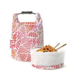 [Roll'eat] 西班牙桶裝食物袋-可裝湯水 (粉紅葉子亞洲限定款)