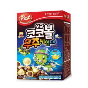 韓國POST五穀可可香蕉球穀類早餐(270g/盒)