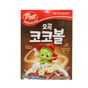 韓國POST五穀可可球穀類早餐(300g/盒) {效期: 2019-06-24}