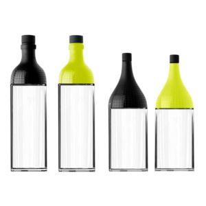 [MIX] 歐風調味料收納組- 油醋瓶*2 (160ml,黑色&黃色)+蜜糖瓶*2 (100ml,黑色&黃色)