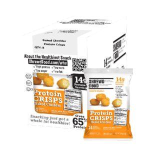 [美國 Shrewd Food] 低碳高蛋白泡芙-切達起司(21g*8包入)