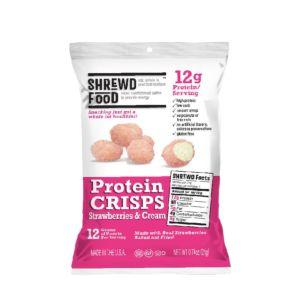 [美國 Shrewd Food] 低碳高蛋白泡芙-草莓奶霜(21g/包)