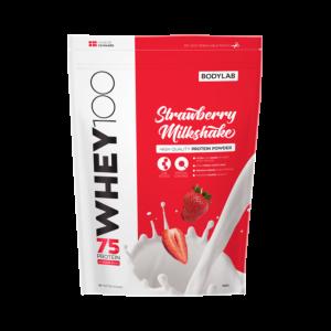 [丹麥 BODYLAB] Whey 100 乳清蛋白 - 草莓奶昔(1KG/袋)