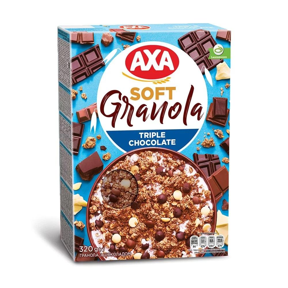 [瑞典 AXA] 三重巧克力穀物麥片 (320g/包) (奶素)