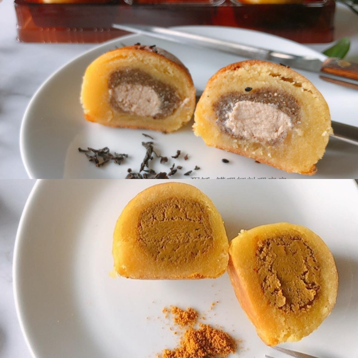 [酮話] 綜合低糖生酮月餅 (50g*6入) 茶香麻糬餡*3、咖哩乳酪餡*3