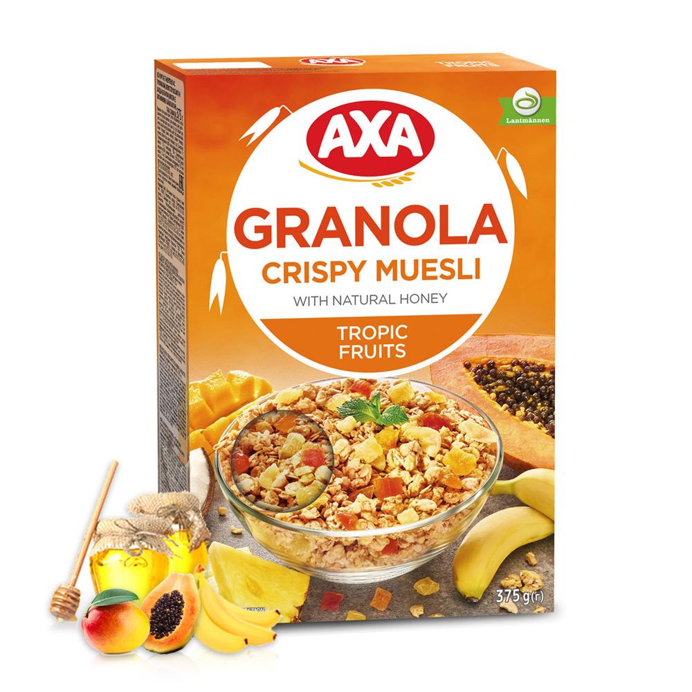 [瑞典 AXA] 熱帶水果穀物麥片 (375g/盒)