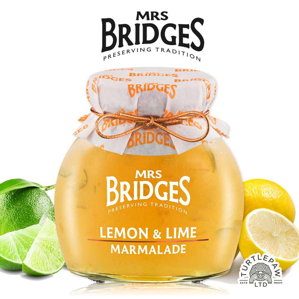 [Mrs.Bridges] 檸檬萊姆果醬 (340g/罐) (全素)