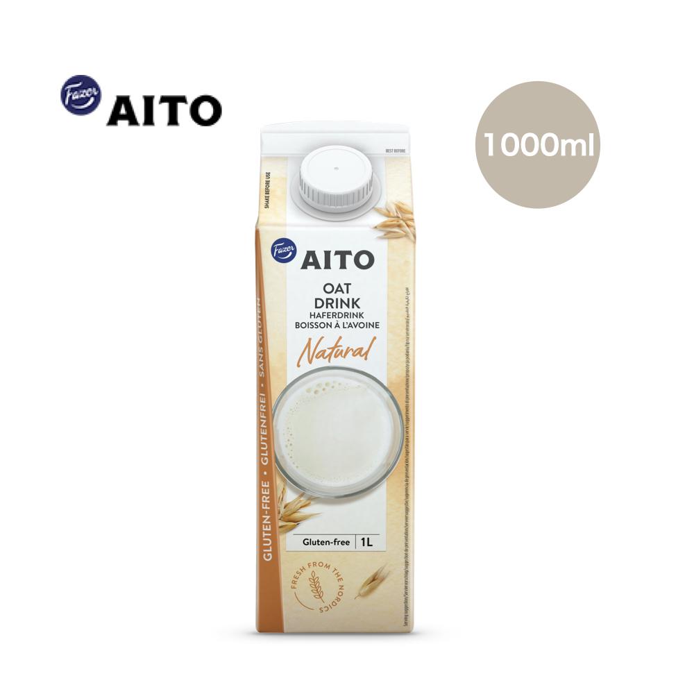 *特派員推薦 [芬蘭 AITO] NATURAL 無糖原味燕麥奶 (1000ml/瓶) (全素)