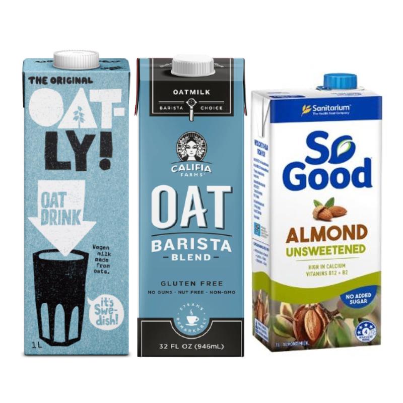 [新手限定] 植人精選 - 經典植物奶組合-Oatly原味燕麥+SoGood無糖杏仁+Califa咖啡師
