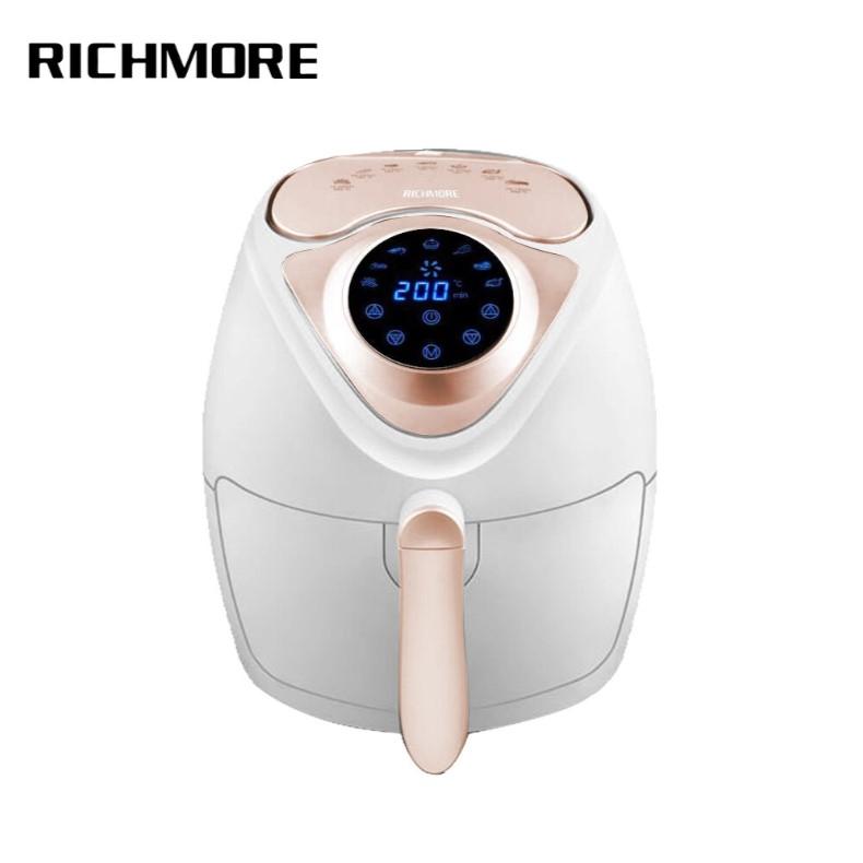 [RICHMORE] 4公升安心觸控健康氣炸鍋 RM055 奢華白