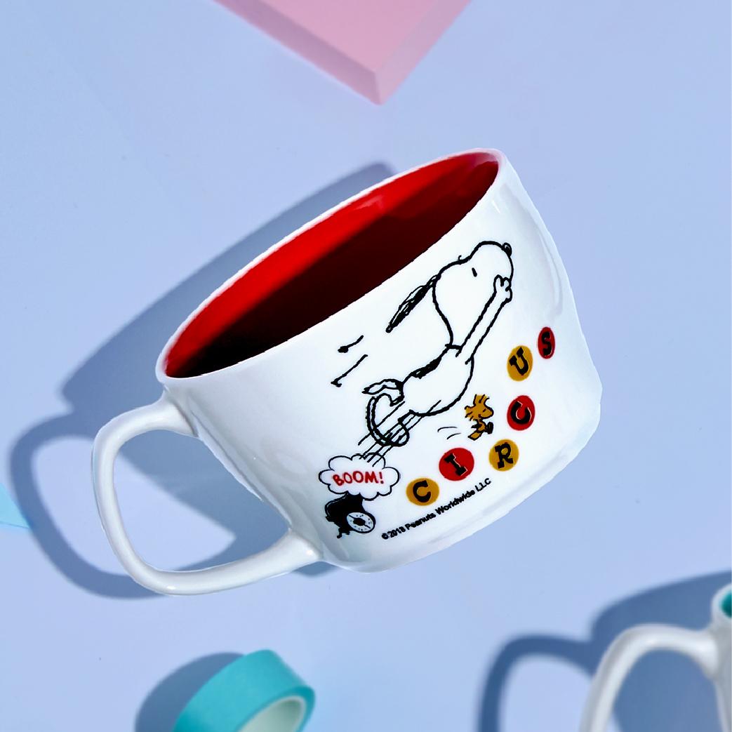 [Snoopy 史努比] 馬戲團系列馬克杯-飛躍款 (440ml)