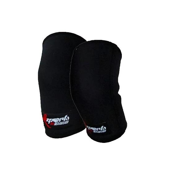 [台灣 Lexports] 重訓健身健力護膝 - 重力強硬型 深淵黑 S
