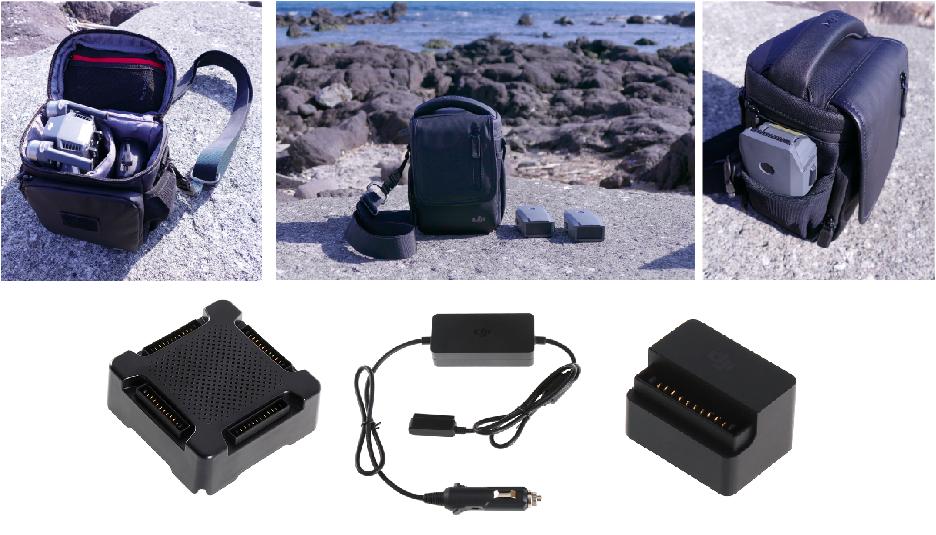 2b42f9ee4b △Mavic Pro本体と専用ケース、予備バッテリー2本、4本のバッテリーを充電できるバッテリーハブ、カーチャージャー、Mavic  インテリジェントフライトバッテリーから ...