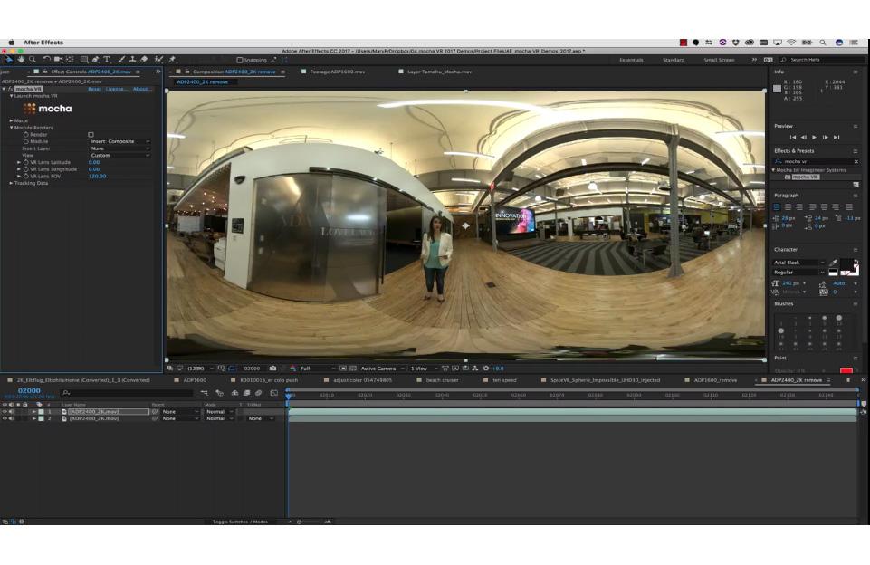 フラッシュバック、VR映像のスタビライズやオブジェクト除去ができる「mocha VR」を発売