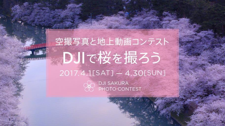 DJI、空撮写真と地上動画コンテスト「DJI で桜を撮ろう」を開催