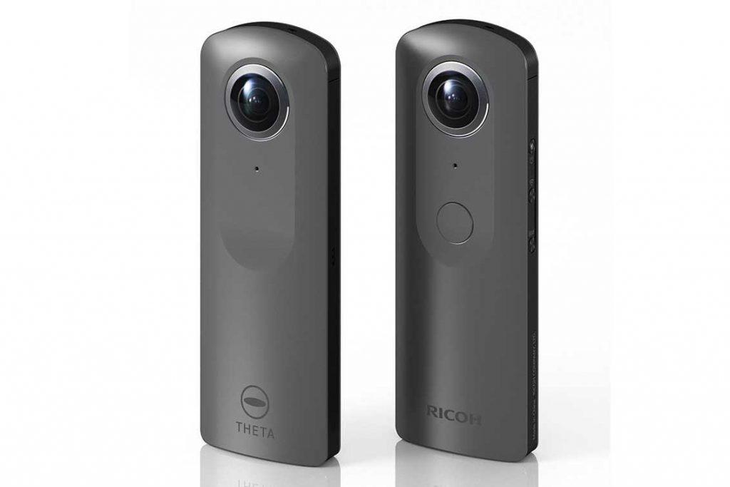 リコー、360度カメラTHETAの4K/30p&4chマイク内蔵モデルをNABで参考展示
