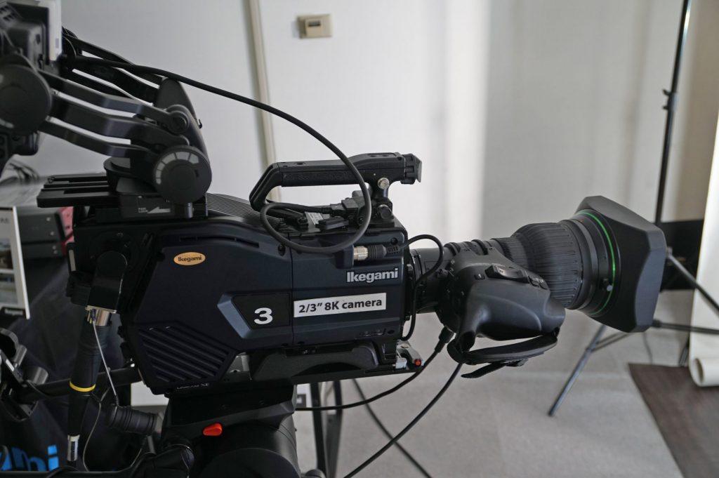 池上通信機の放送映像機器内覧会〜8Kのポータブルシステムカメラを技術展示
