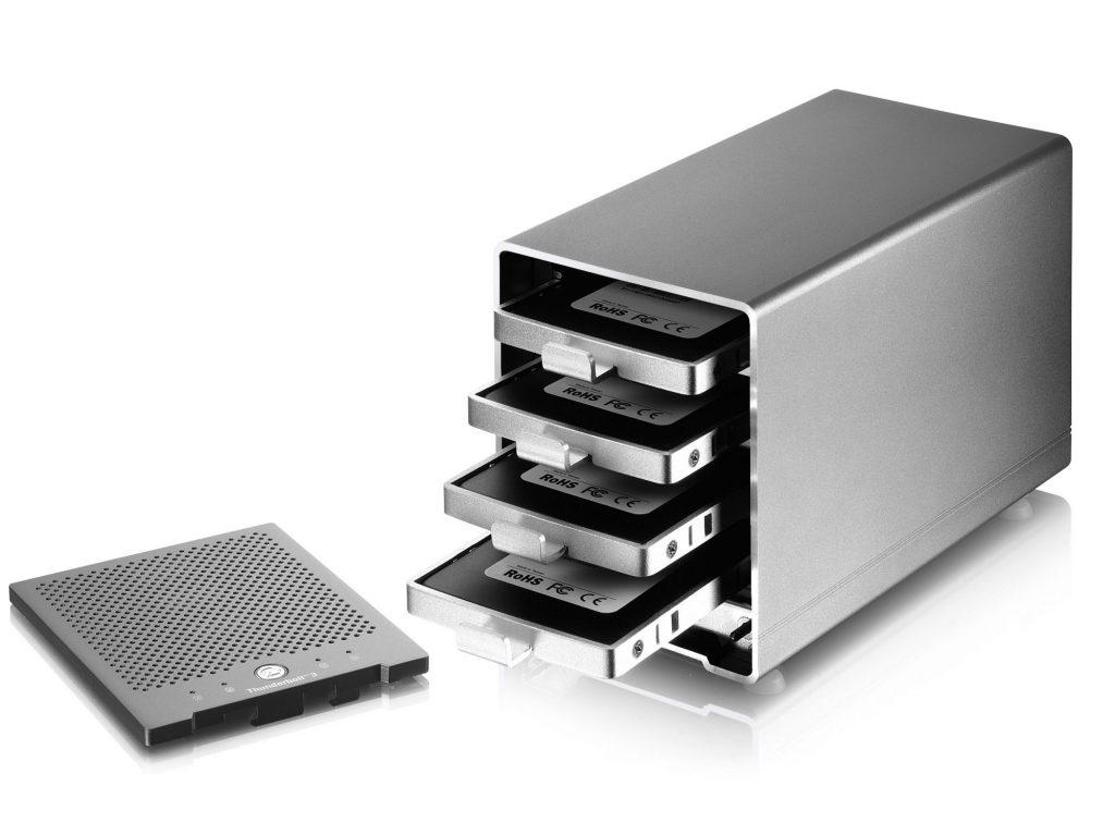 アミュレット、Thunderbolt 3 対応 4ベイ外付け HDケース AKiTiO Thunder3 Quad Mini の取り扱いを開始