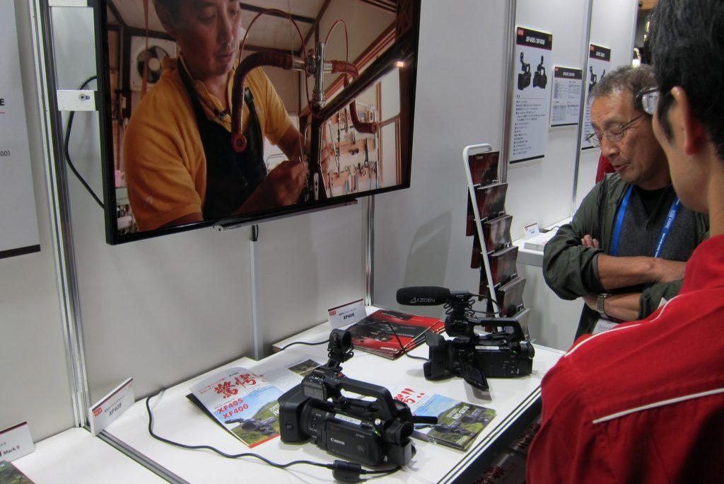 キヤノン [Hall 3] 話題のXF405/XF400をはじめ8K映像ソリューション、多目的小型モジュールカメラを展示