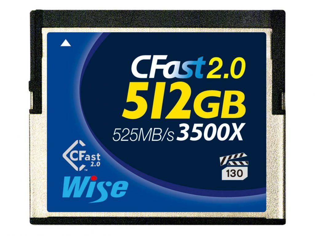 アミュレット、4Kビデオ収録対応の Wise CFast 2.0 メモリーカード 512GB を発売
