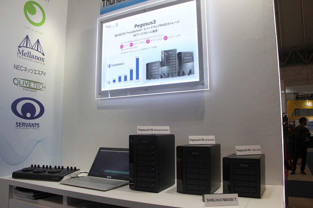PROMISEテクノロジー/最大容量80TBのハードウェアRAIDストレージPegasus3 R8
