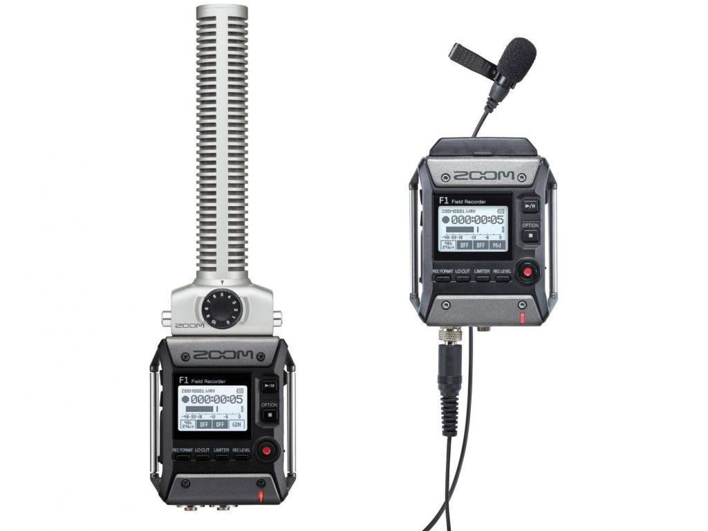 ZOOM、フィールドレコーダー『F1』をマイク付属の2種類のパッケージで発売