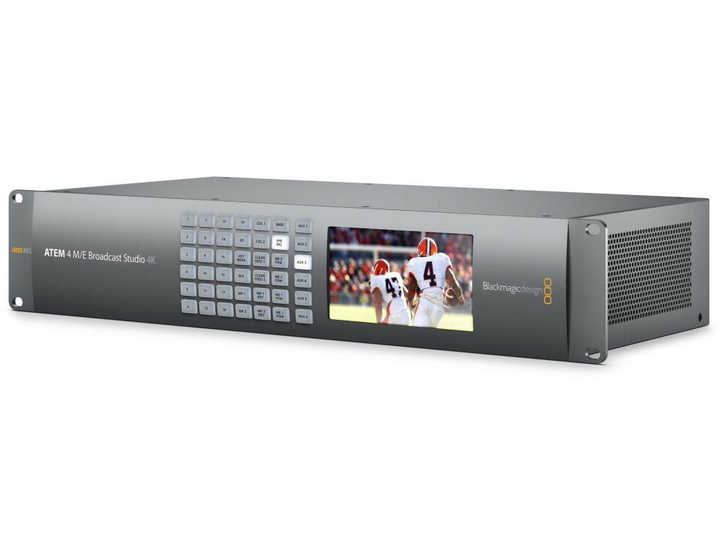 ブラックマジックデザイン、HD/Ultra HDライブプロダクションスイッチャー・ATEM 4 M/E Broadcast Studio 4K を発売