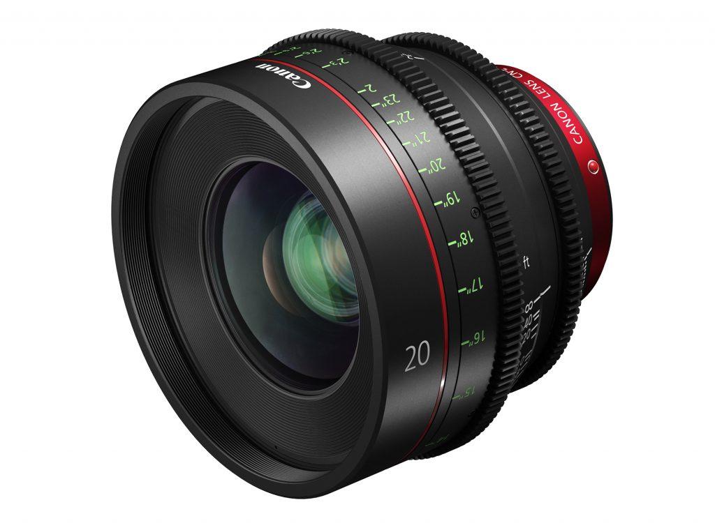 キヤノン、EFシネマレンズに20mm単焦点 CN-E20mm T1.5 L F を追加